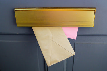 mail in a letterbox