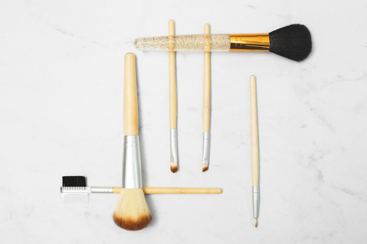 Makeup Brushes On Marble