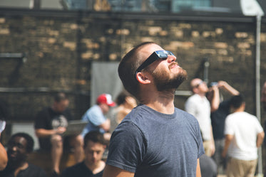 man eclipse viewing