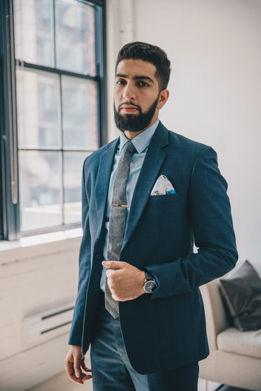 man in tailored suit