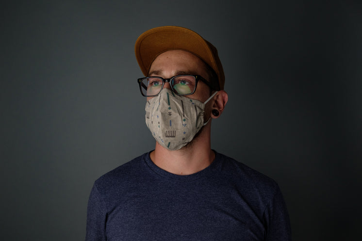Man With Glasses And Face Mask