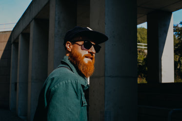man with red beard and sunglasses