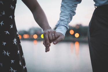 Picture of Married Couple Holding Hands - Free Stock Photo