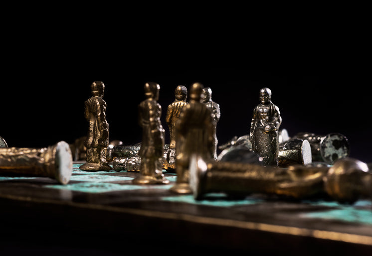 Meeting Of Pawns In Chess Game