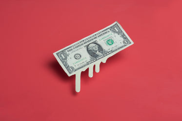 melting dollar bill money drips