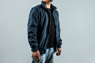 mens outerwear in navy