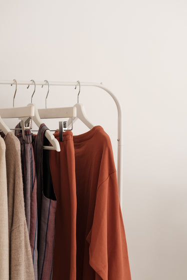 minimal clothing displayed in store