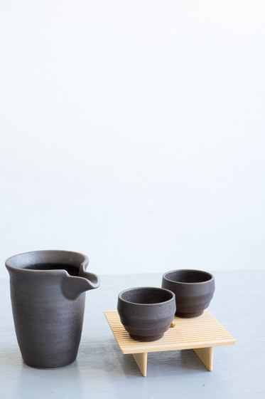 minimalist pitcher and cup set