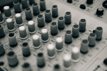 mixing board black and white