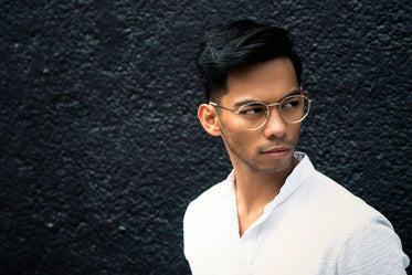 modern male fashion with glasses