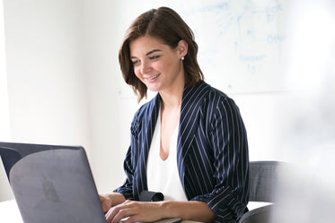 modern woman at laptop working