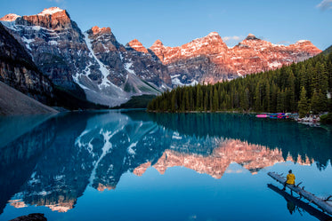 moment of peace at lake louise