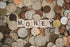 money lettering in coins