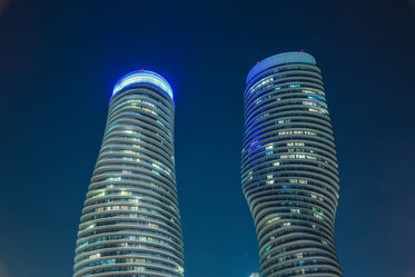 monroe towers at night
