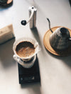 morning pour over flat lay
