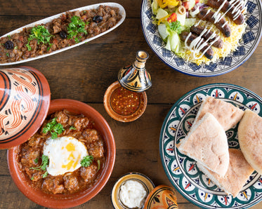 moroccan dining tagine and flatbreads