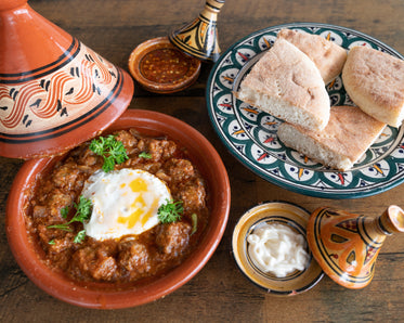 moroccan meal in tagine