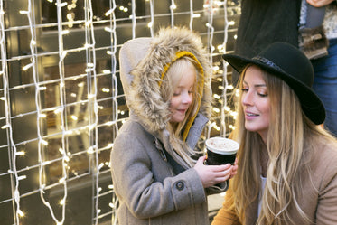 Free Stock Photo of Mother And Daughter Hot Cocoa — HD Images