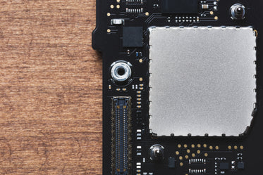 motherboard with wood grain