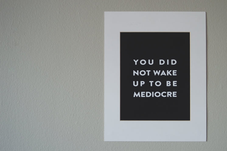 Motivational Screen Printed Poster On Wall