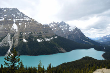 mountains and blue lake