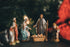 nativity scene with christmas tree