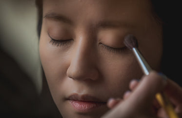 natural eye shadow being brushed