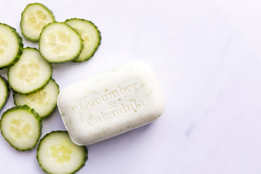 natural soap with cucumber