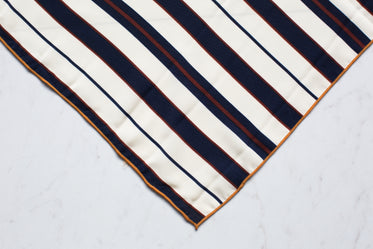 navy white stripe scarf