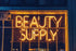 neon beauty sign