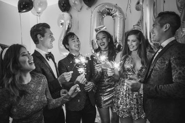 new years eve in black and white