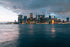 new york city skyline from water