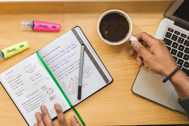 Picture of Notebook And Coffee - Free Stock Photo