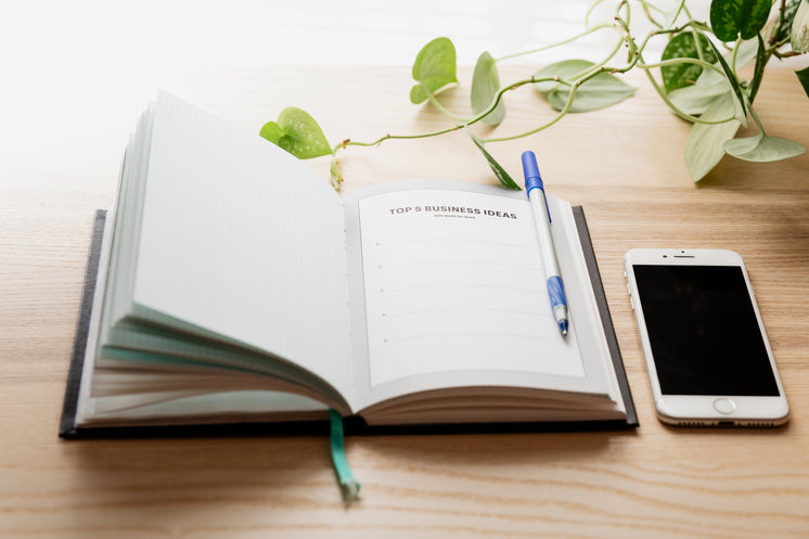 Notebook With Top Five Business Ideas