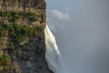 oblique view of waterfall