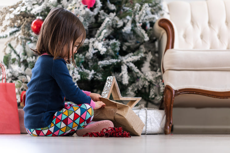 Opening Gifts Christmas