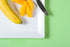 High Res Orange And Banana On Plate Picture — Free Images