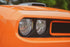 orange sports car close up