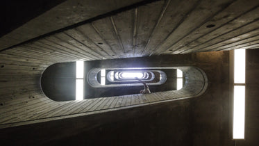 oval stairwell looking up