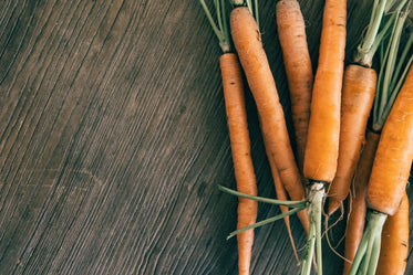 overhead view of carrots