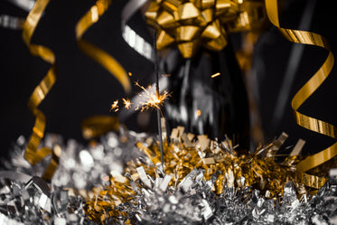 party sparkler with shiny decor