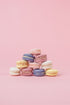 Browse Free HD Images of Pastel Macaron Pyramid On Pink Portrait