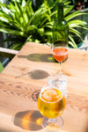patio drinks on sunny day