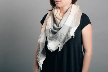 peach and grey scarf product