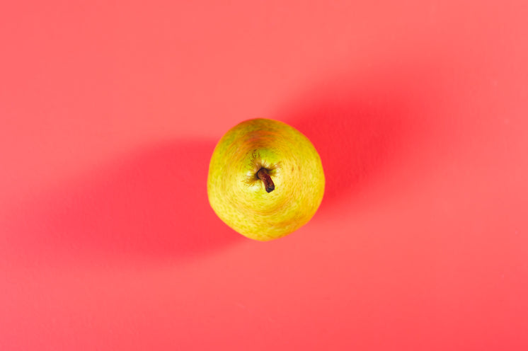 Pear From Above On Pink
