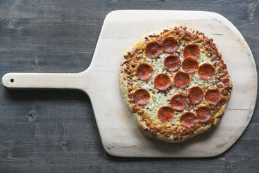 Free Pepperoni Pizza On Wood Board Image: Stunning Photography