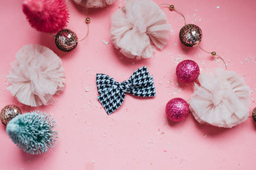pink festive decorations