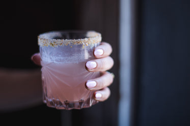 pink fingernails pink cocktail