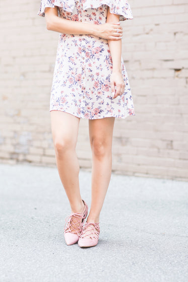 pink floral outfit