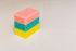 pink green and yellow cleaning sponge